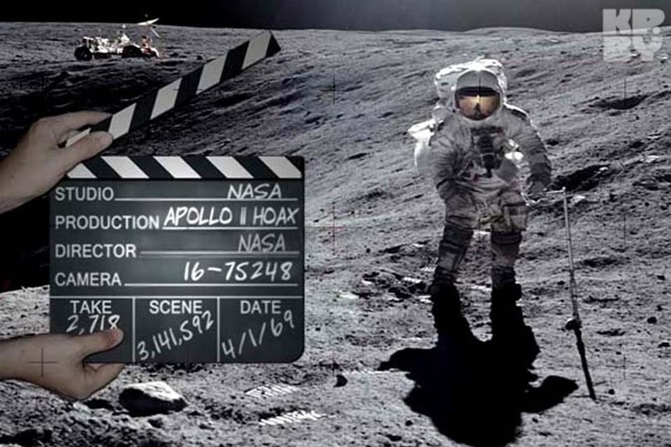 В интернете немало фотошуток на тему полета американцев на Луну.