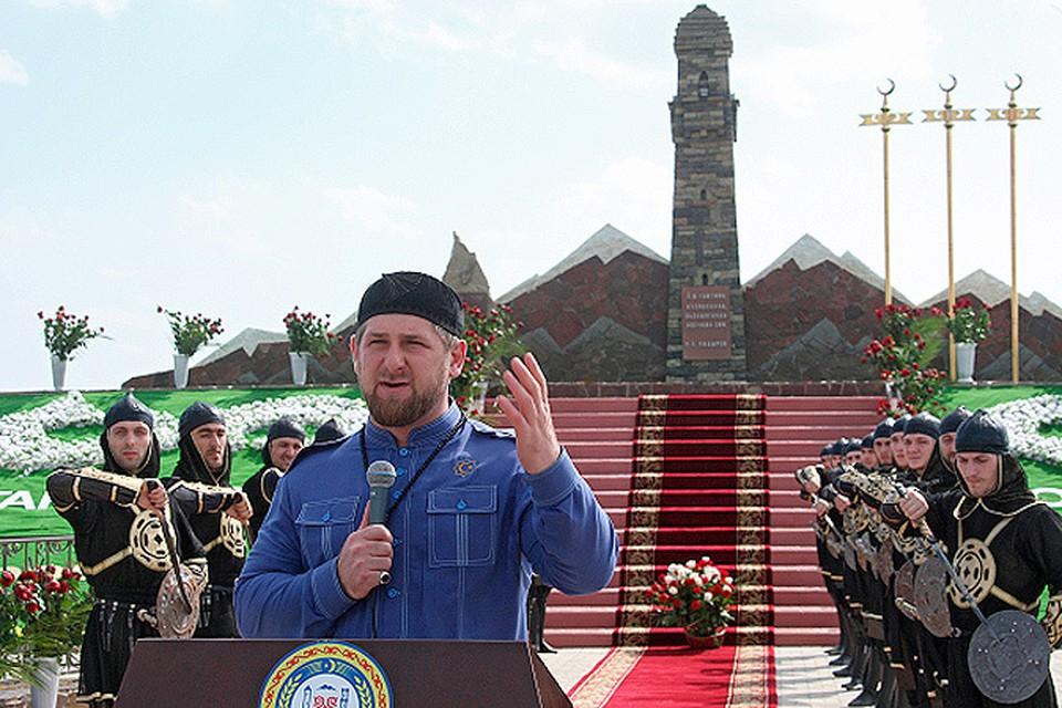 Рамзан Кадыров торжественно открыл памятник женщинам, сражавшимся с войсками русского генерала Ермолова