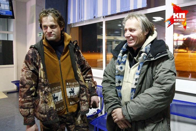 Журналист Александр Захаров и учёный Владимир Коваль, которые ещё в июне уехали на север Красноярского края, прилетели в Красноярск