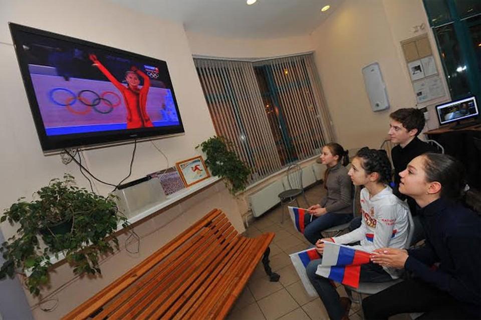 Друзья  Юли Лепницкой поддерживали спортсменку.
