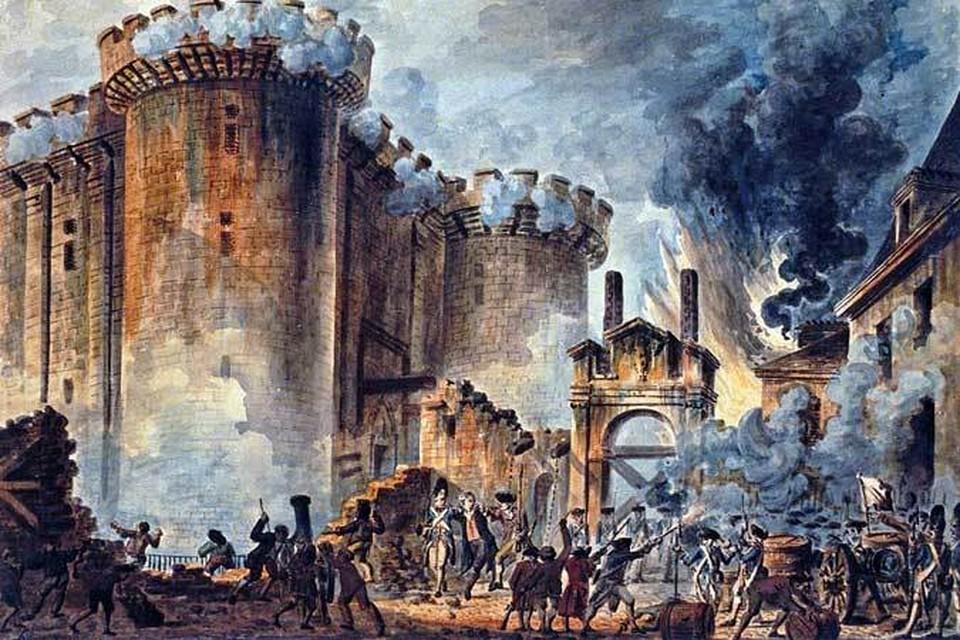 Взятие Бастилии - эпизод одной из величайших революций. Автор картины - Жан-Пьер Уэль