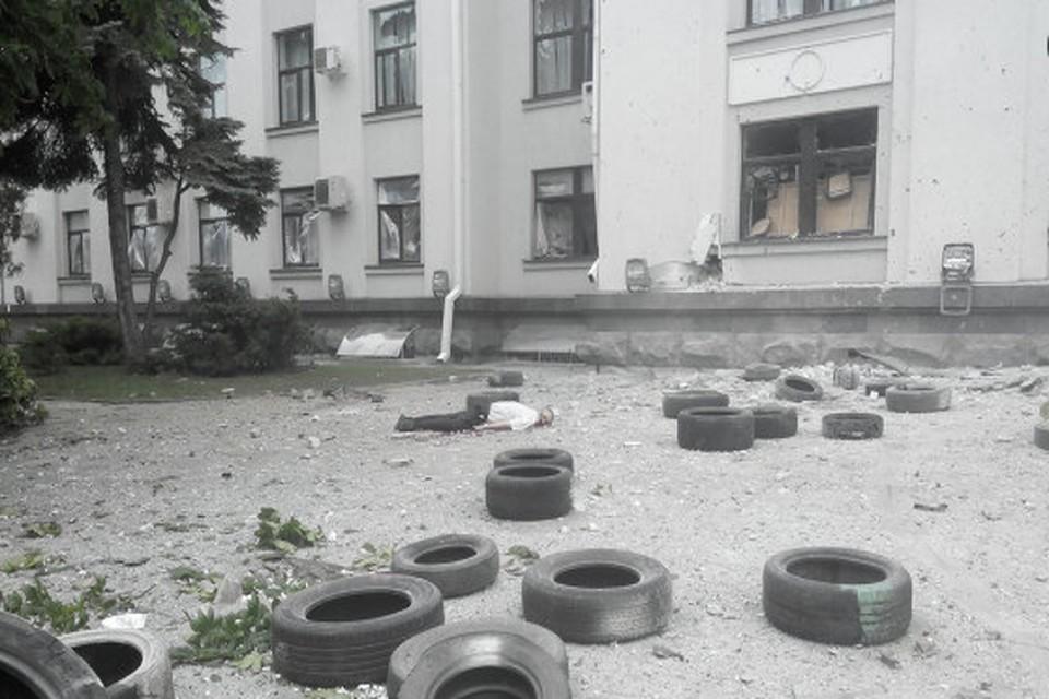 В Луганске напротив городской администрации нашли неразорвавшиеся бомбы