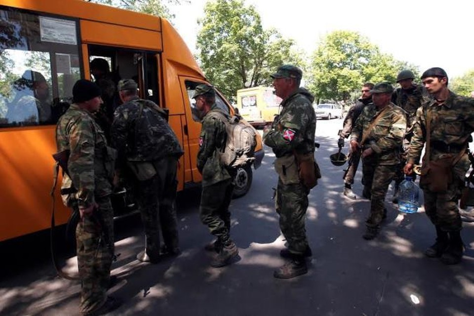 Ранее в субботу бойцы сил самообороны покинули Краматорск