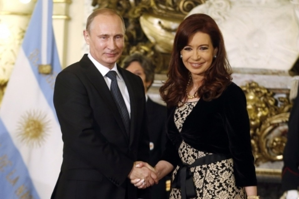 Владимир Путин и президент Аргентины Кристина Киршнер