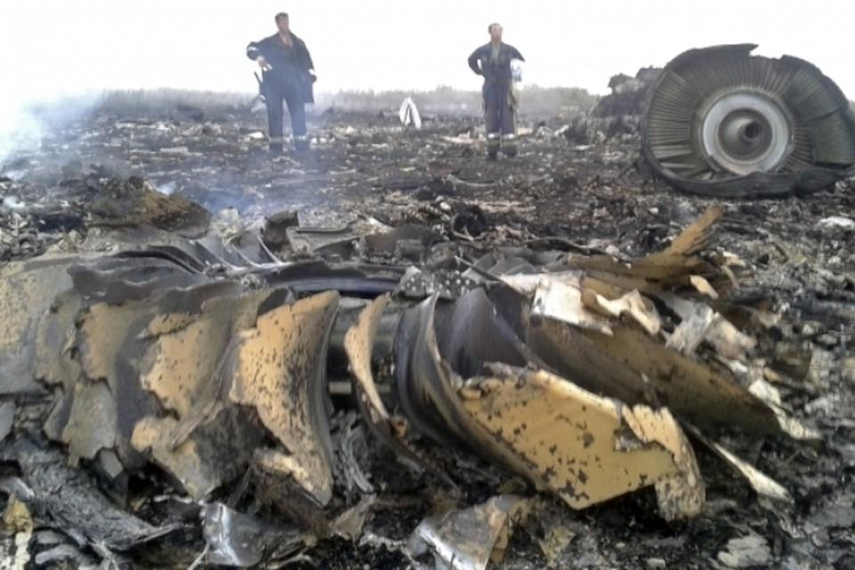 На месте крушении самолета