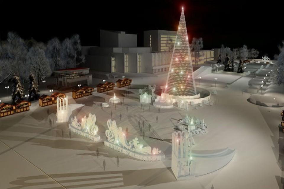 Ледовый городок на Центральной площади Ижевска начнут строить в начале декабря. Фото предоставлено Администрацией города.