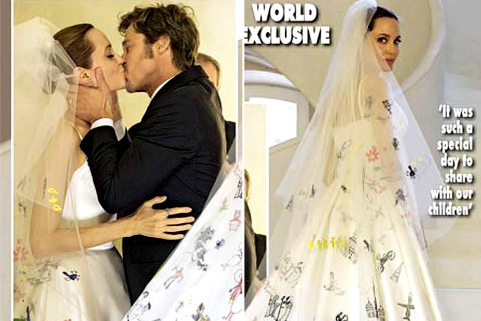 свадебные фото питта и джоли