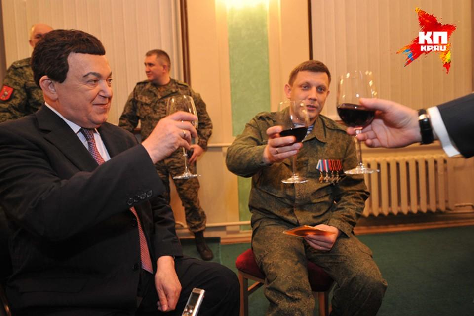 Иосиф Кобзон выпил в Донецке за здоровье раненого главы ДНР