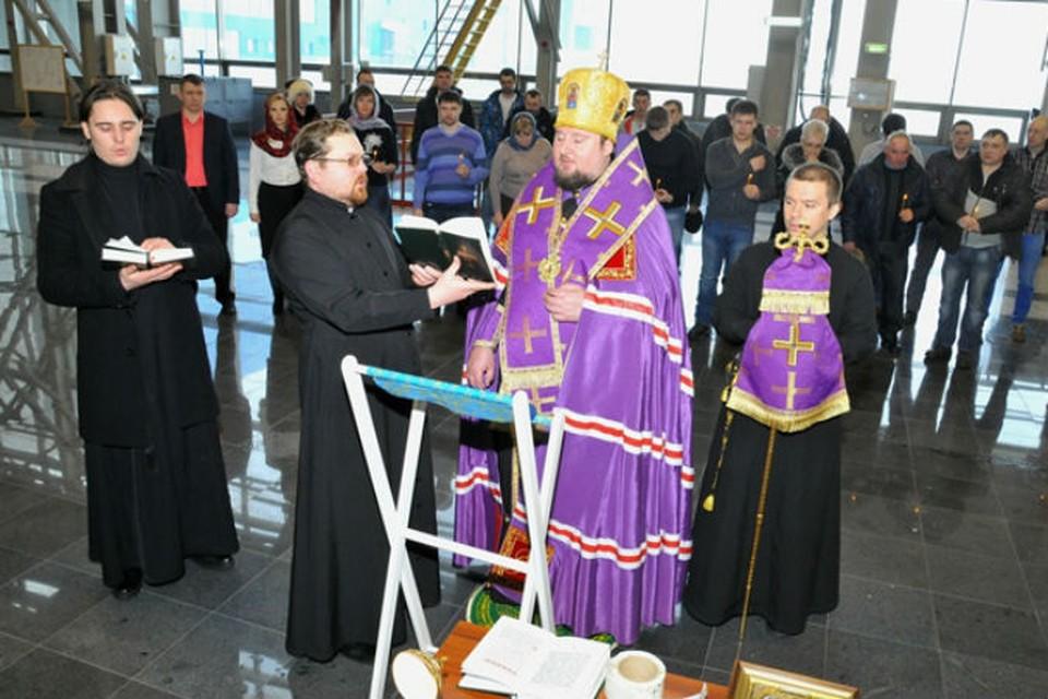 Епископ освятил Богучанскую ГЭС Фото: пресс-служба Богучанской ГЭС