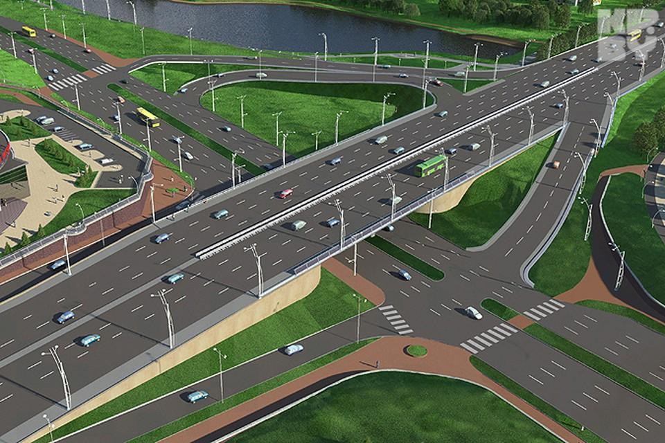 Развязка на Независимости лишится парковки, пешеходного мостика и обрастет светофорами. Фото предоставлено КПИУП «Минскинжпроект».