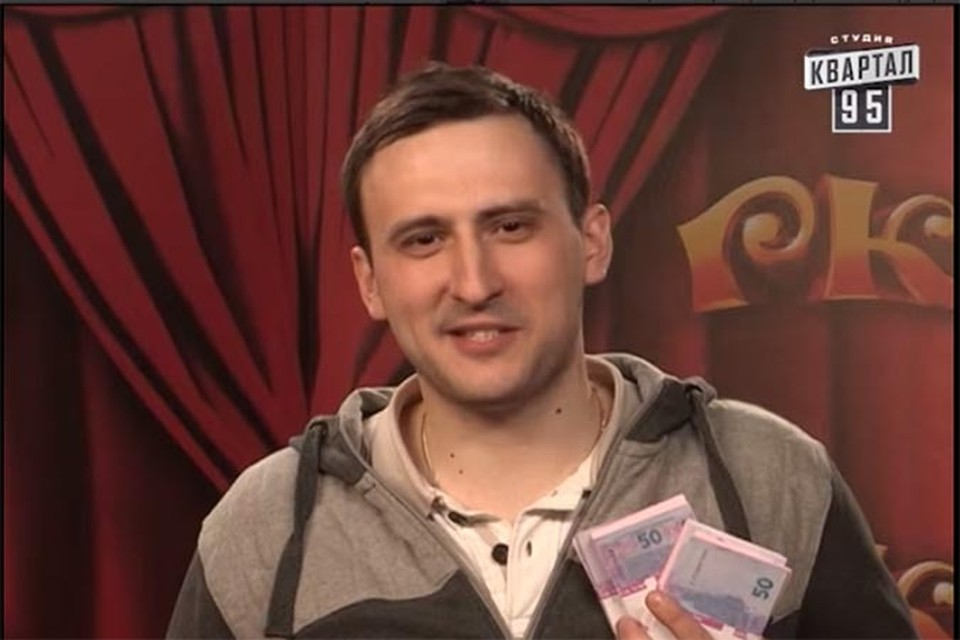 Андрей Краевский из Бреста рассмешил комиков на 20 тысяч гривен. Фото: скриншот видео Студия Квартал 95 Online.