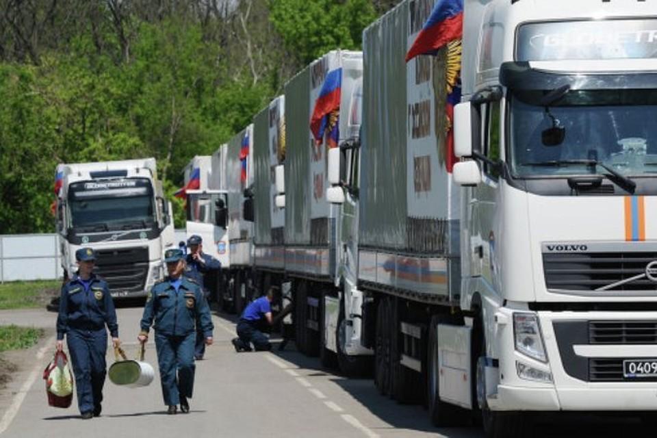 За год колонны МЧС доставили в Донецк и Луганск более 42 тысяч тонн помощи