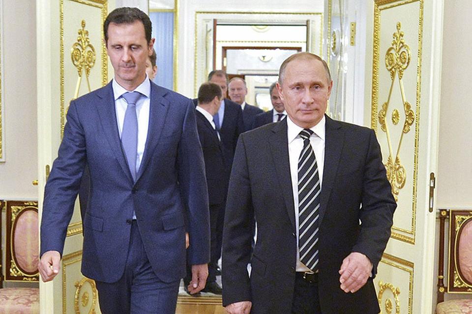 Башар Асад и Владимир Путин провели переговоры в Кремле.