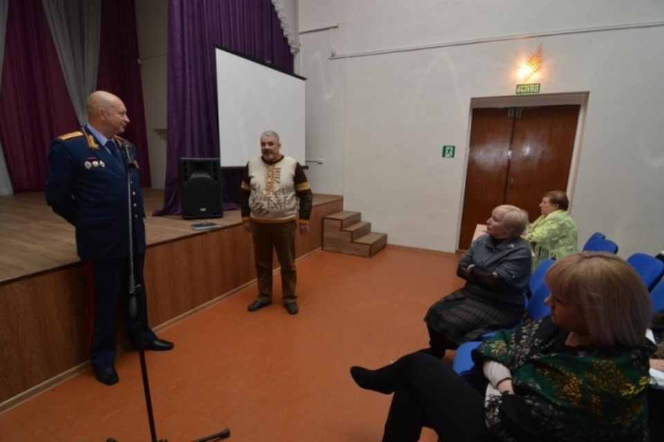 Игорь Комиссаров на встрече с работниками детдомов