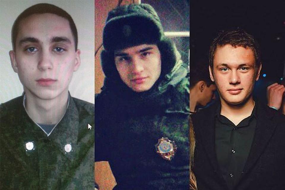 Слева направо: Томский, Зиганшин, Даценко.