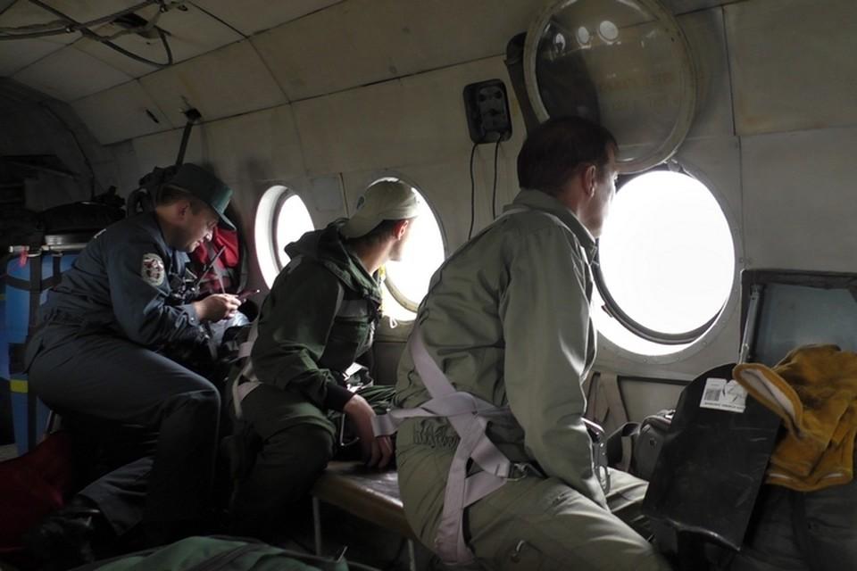 Спасатели во время поисков АН-2