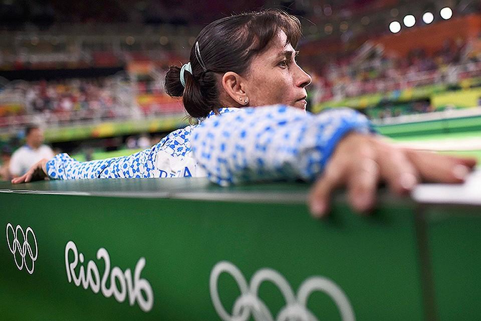 Оксана Чусовитина на олимпийском объекте Рио.