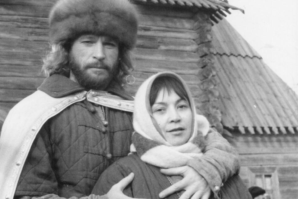 Игорь и Татьяна Тальковы на съемках фильма «Царь Иван Грозный», в котором певец сыграл главную роль - князя Никиту Серебряного.