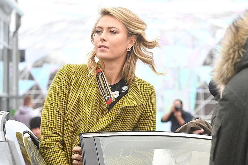 1 февраля в Москву всего на один день прилетела известная теннисистка Мария Шарапова.