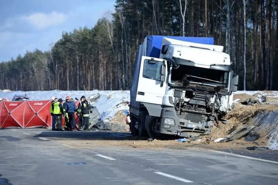 Крупная авария в Польше. Фото: Jacek Turczyk/PAP