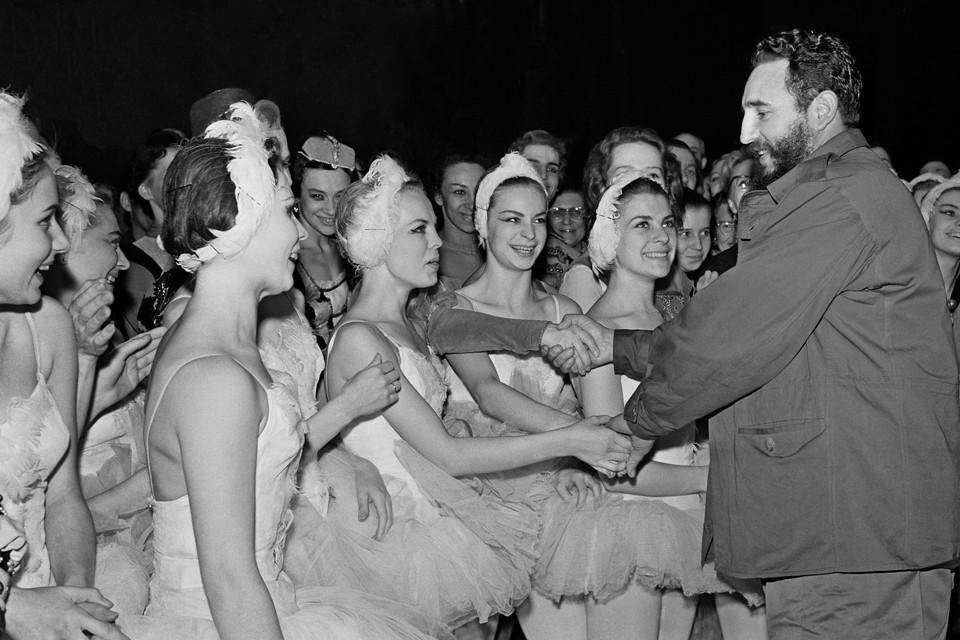 Во время визита в Москву Фидель Кастро посетил Большой театр