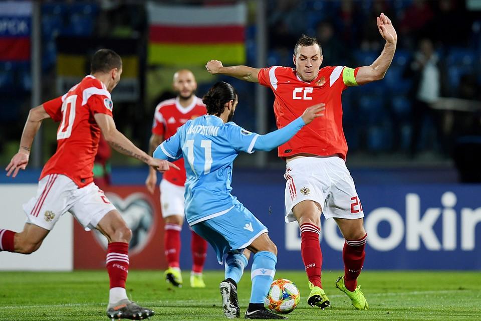 Сборная России завершила отбор на Евро-2020 разгромом Сан-Марино 5:0