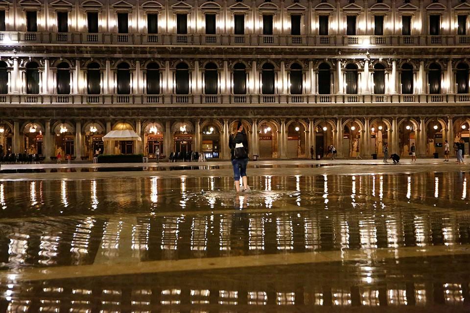 Большая часть Венеции оказалась под водой из-за проливных дождей