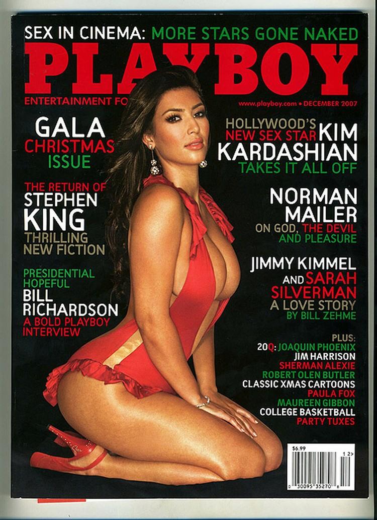Ким Кардашьян на обложке Playboy.