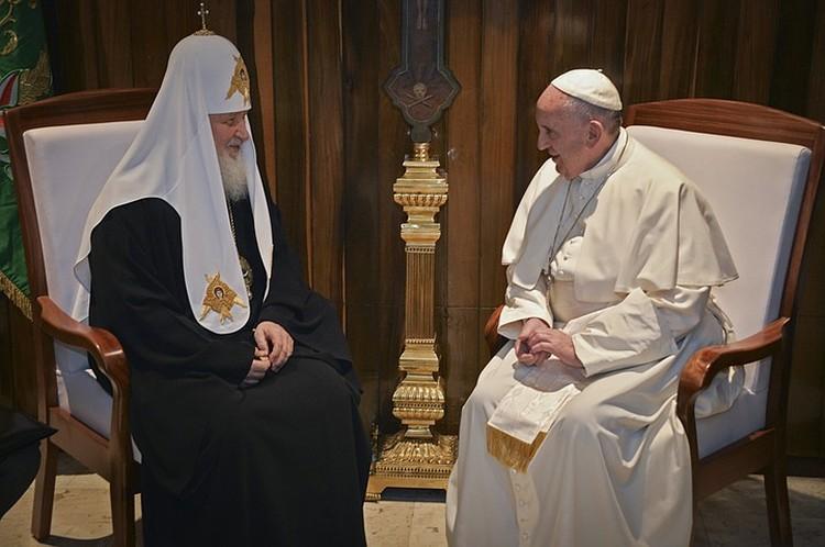 Патриарх и Папа проговорили около 2-х часов и в основном за закрытыми дверями