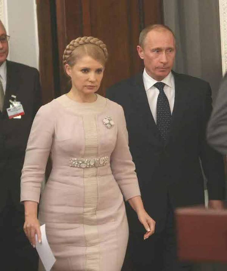 Тимошенко в 2010 году на переговорах с Владимиром Путиным.