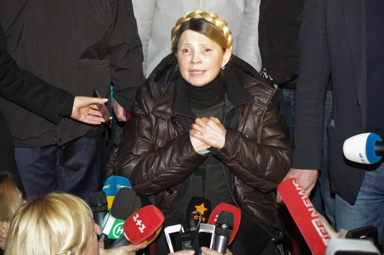 Тимошенко на митинге на Площади Независимости. Фото: Олег ТЕРЕЩЕНКО.