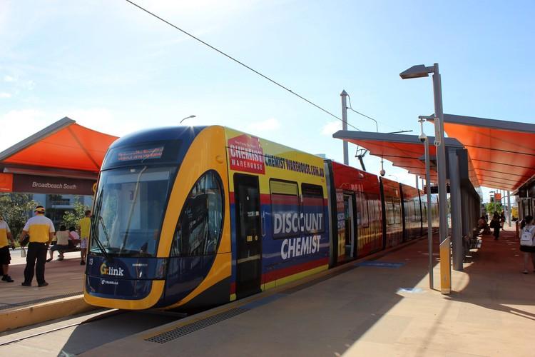 Станция трамваев BroadBeach South в Мельбурне. Фото: автора.