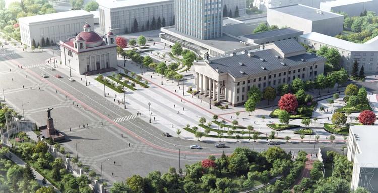 Альтернативный проект реконструкции площади Ленина в Гомеле создали студенты-архитекторы. Фото: из архива Романа Рощенко