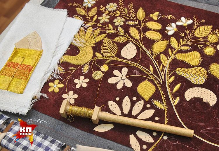 Золотое шитьё из Торжка славится на всю Россию.