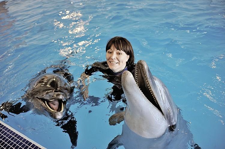 Не так давно в «Москвариуме» открылся центр плавания с дельфинами.