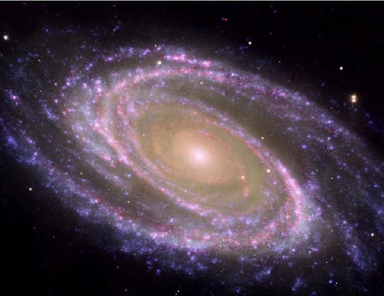 Спиральная галактика, которая на небе может выглядеть тусклой звездочкой: в ней триллионы звезд.