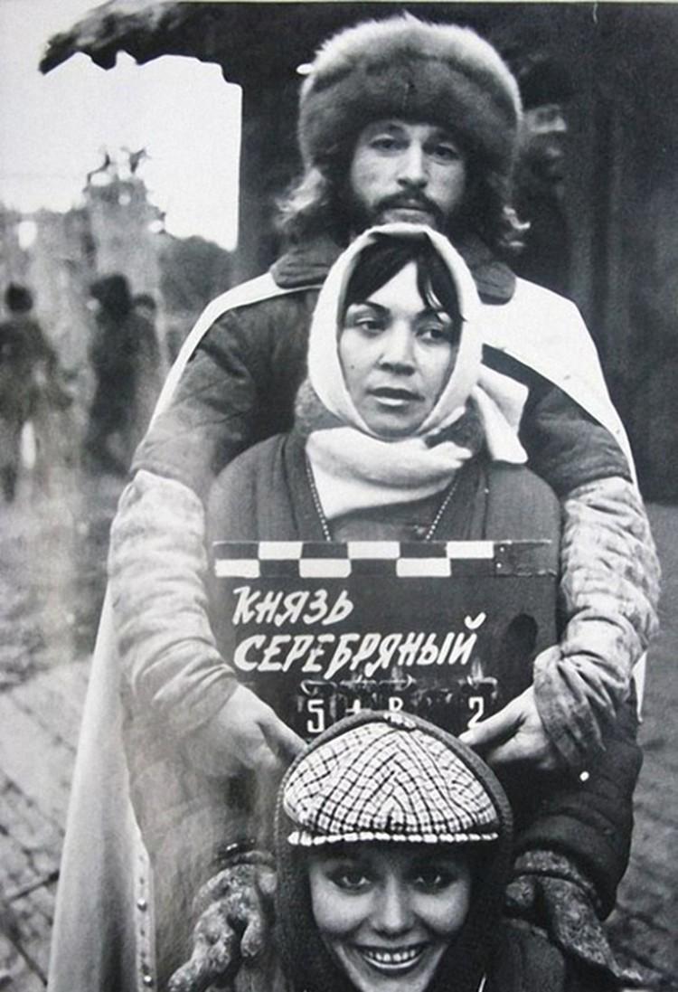 На съемках фильма «Царь Иван Грозный».
