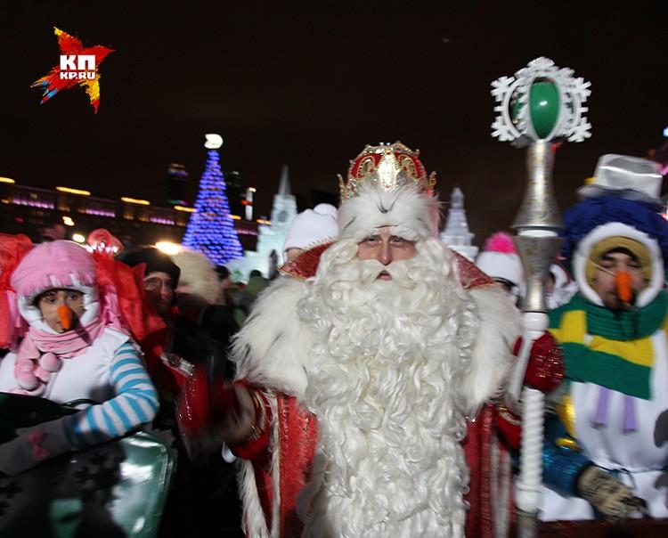 Дед Мороз из Великого Устюга на открытии фестиваля.