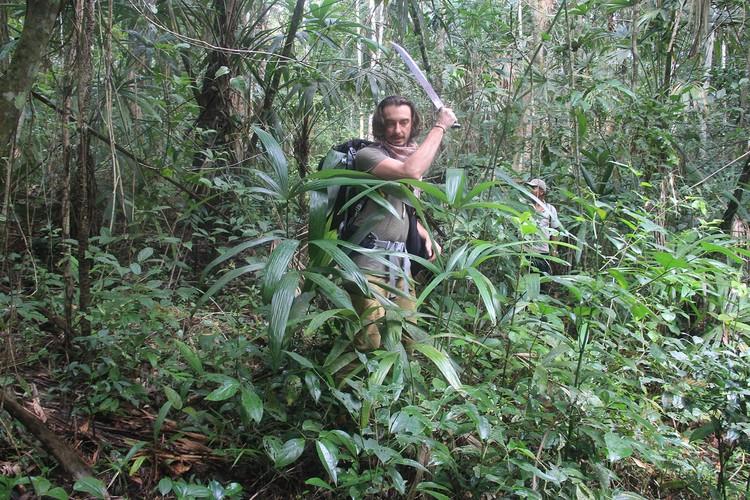 Мачете в джунглях бывает незаменим. По пути к Тикалю Фото: личный архив