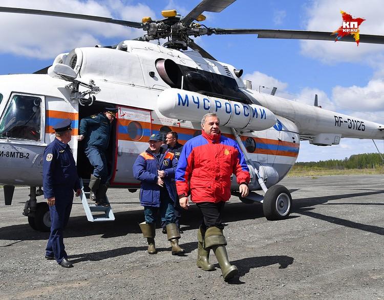 Владимир Пучков прибыл в районы Тюменской области, пострадавшие от стихии.