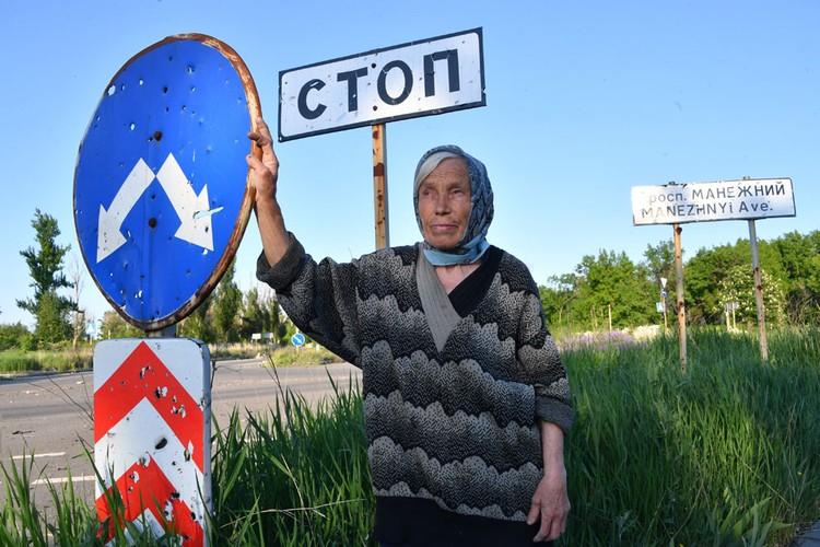 Одна из редких жительниц улицы Стратонавтов Антонина Викулина