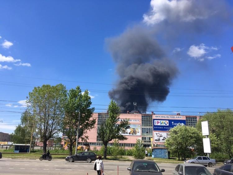 Новые столбы дыма в Ярославле.
