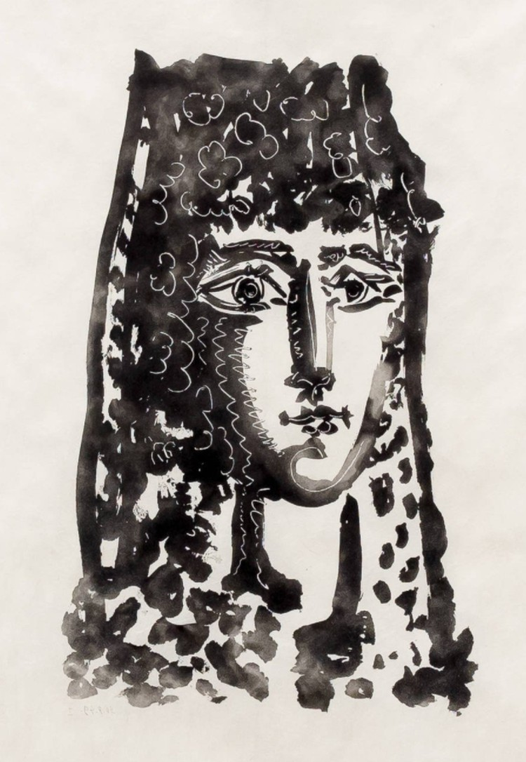 """Пабло Пикассо. """"Женщина в мантилье Кармен"""". Предоставлено Altmans Gallery."""