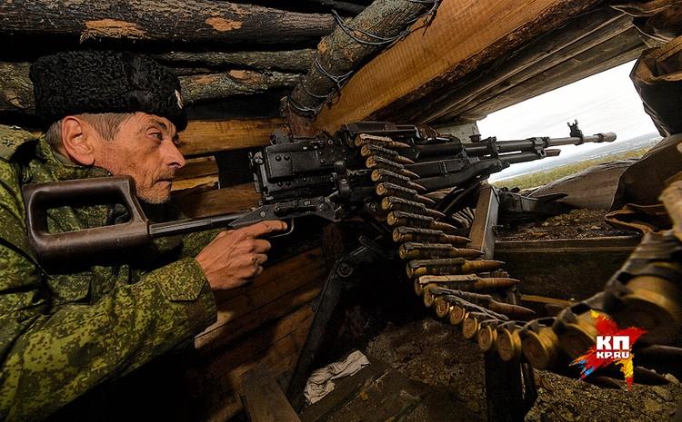 Крупнокалиберные пулеметы ополченцев.