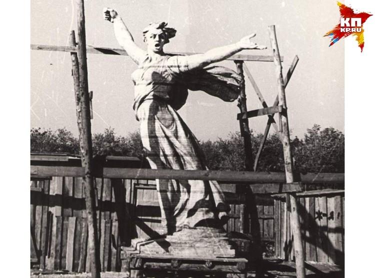 Модель Родины-матери в одну десятую натуральной величины. Фото: Музей-заповедник «Сталинградская битва».