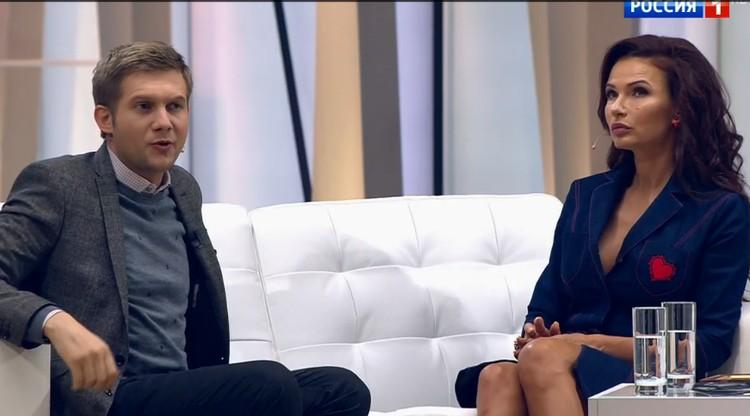 """Об истинных причинах разрыва с мужем Эвелина рассказала Борису Корчевникову в программе """"Судьба человека"""". Фото: кадр видео."""