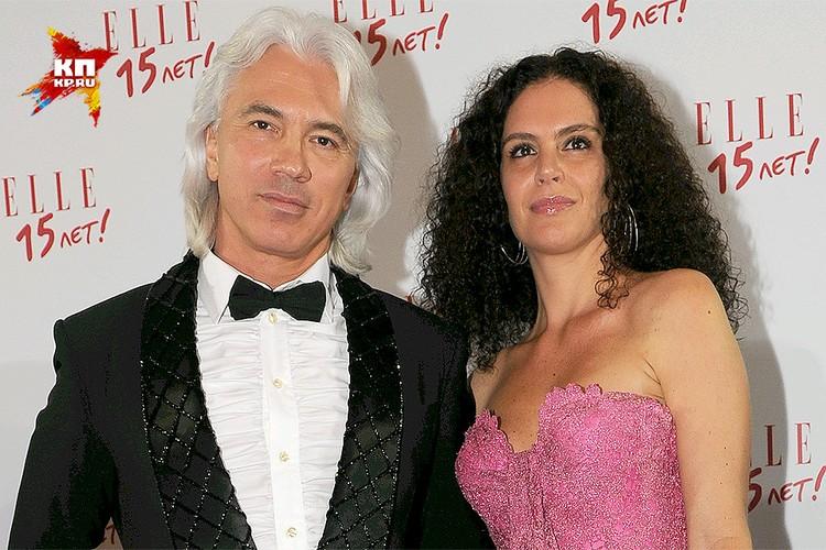 Оперный певец Дмитрий Хворостовский с женой Флоранс.