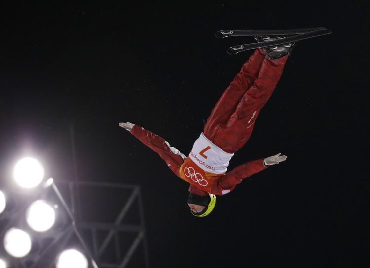 Россиянин Илья Буров в полете.