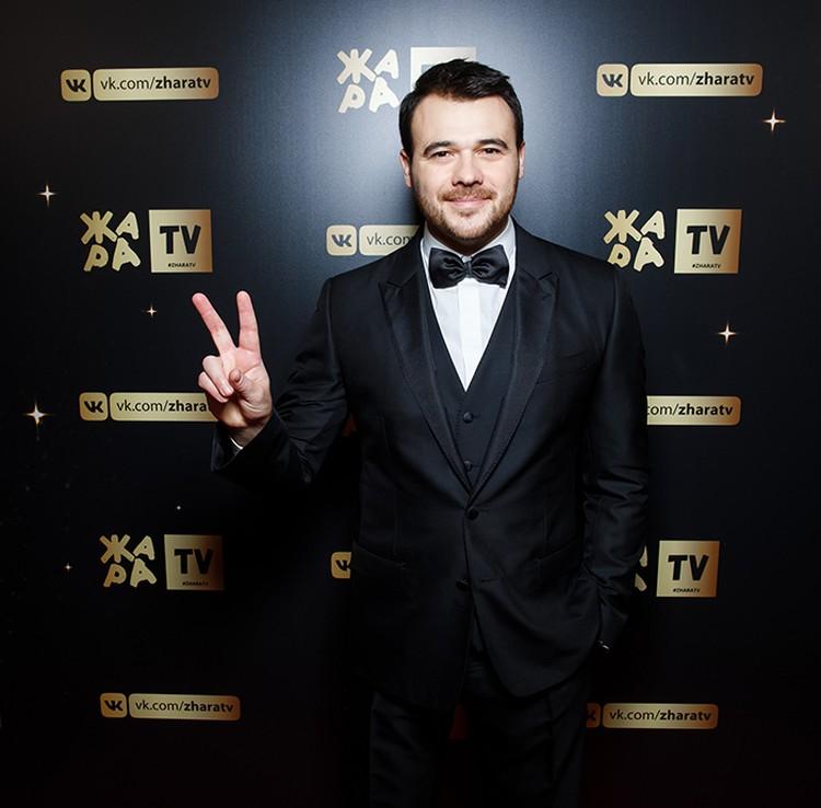 Один из организаторов премии - певец Emin