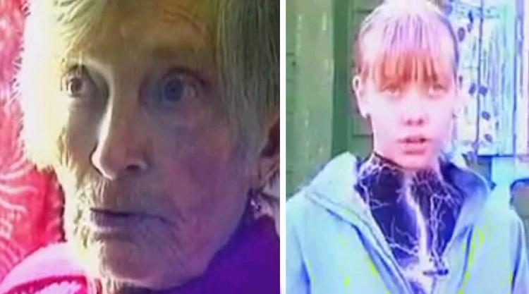 Евдокия Вихорева и дочь ее квартирантов Марина подробно рассказывали о перенесенном по телевизору. ФОТО - из фильма телекомпании РЕН ТВ